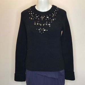 KATE SPADE Heavy Knit Embellished Sweater Small